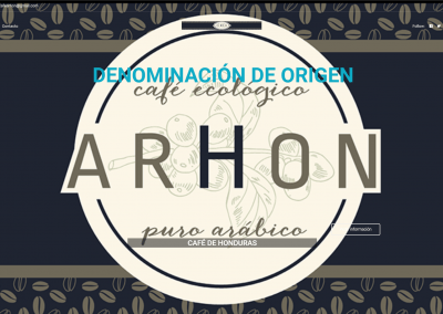 Proyecto página de café de Honduras