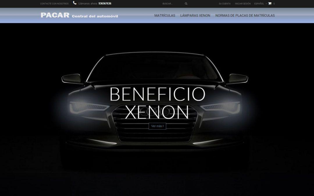 Proyecto de Tienda Online de matrículas y lámparas XENON
