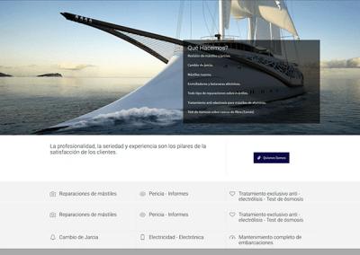 Proyecto de Página web para empresa de naútica