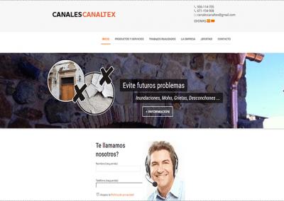 Proyecto de Página web para empresa de Canales Pluviales