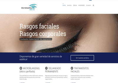Proyecto de Página web para empresa de Estética