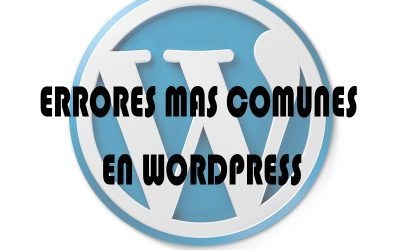 Errores mas comunes en WordPress
