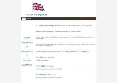 Proyecto clases inglés