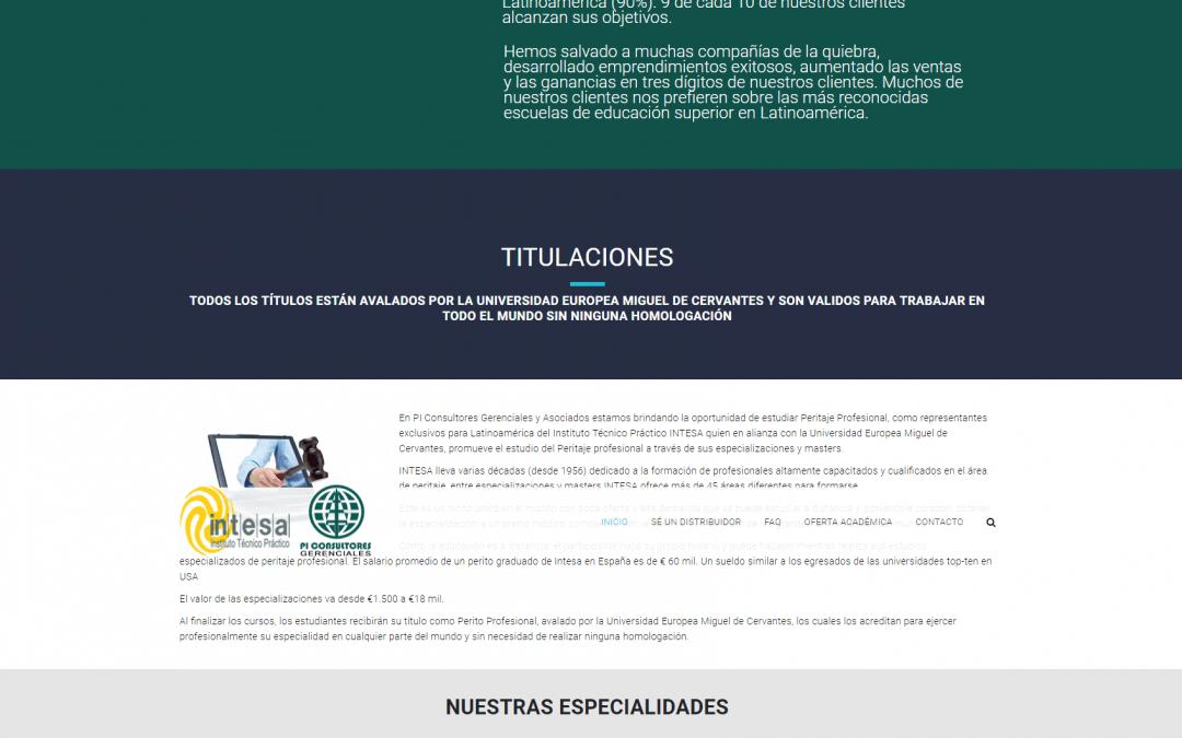 Proyecto web empresa formación venezuela