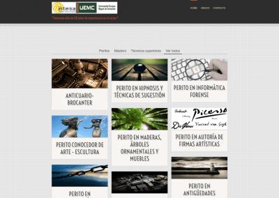 Paginas web de cursos peritos universitarios