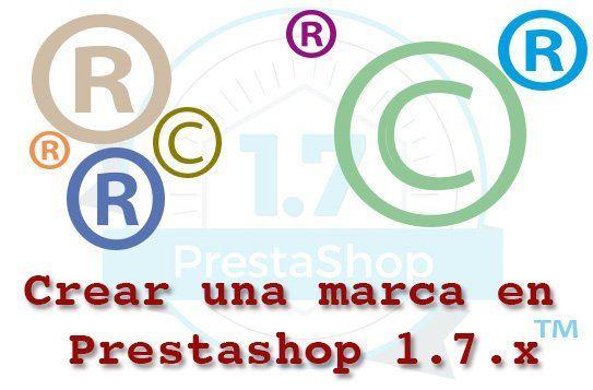Crear una marca en Prestashop 1.7.x