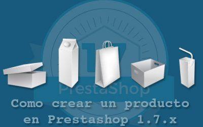 Como crear un producto en Prestashop 1.7.x
