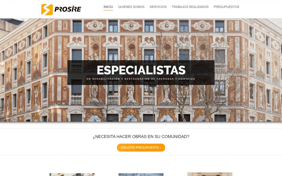 Modificación web de empresa de rehabilitación de fachadas