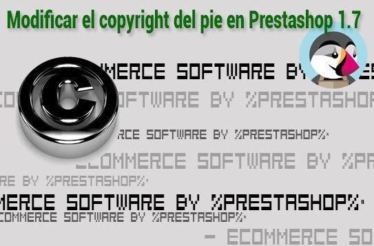 Modificar el copyright del pie de página en Prestashop 1.7