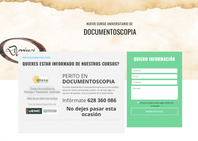 Página web curso de documentoscopia