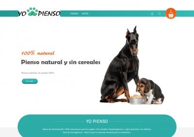 Remodelación tienda online para mascotas