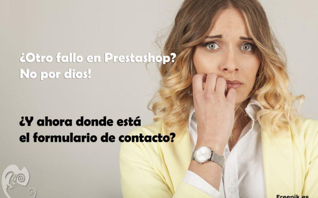 No se muestra el formulario de contacto en Prestashop 1.7.x