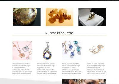 Plantilla web joyería online
