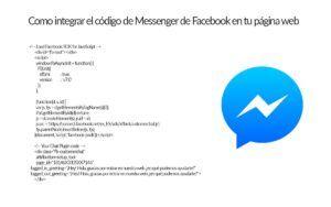 Como integrar el código de Messenger de Facebook en tu página web