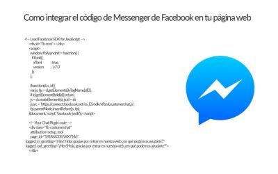 Añadir código Globo Messenger de Facebook en tu WordPress