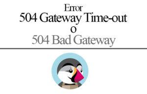 error 504 Gateway Time en Prestashop
